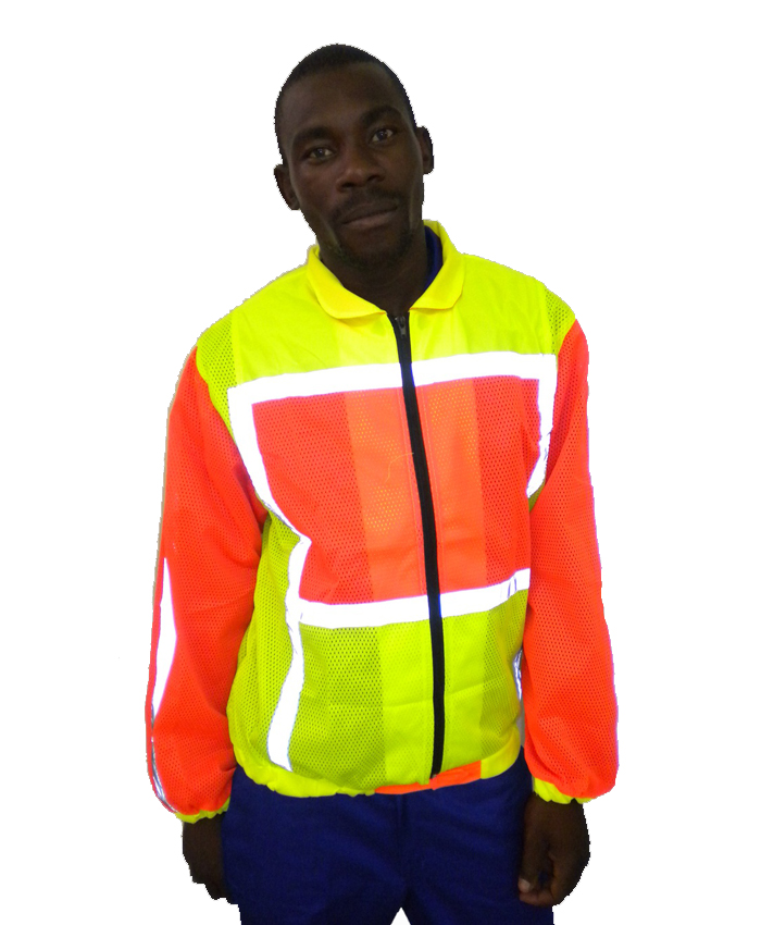 2 TONE LONG SLEEVE REFLECTIVE VEST