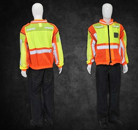 REFLECTIVE VEST WITH ZIP OFF SLEEVES