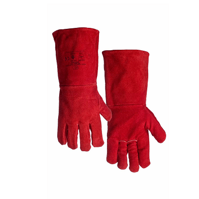 RED HEAT RESISTANT OVEN GLOVE