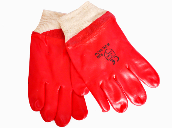 GLOVES PVC KNIT WRIST