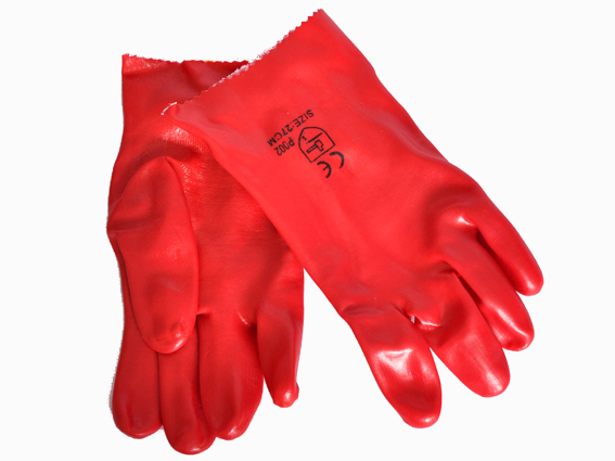 GLOVES PVC OPEN CUFF