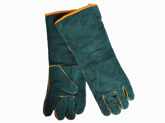 GLOVES GREEN WELDING ELBOW