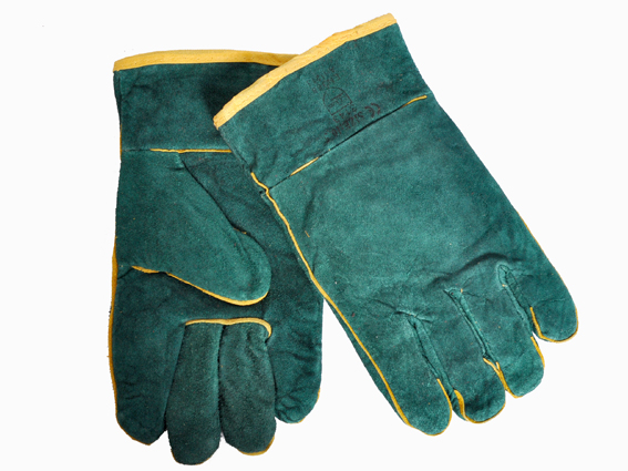 GLOVES GREEN WELDING WRST