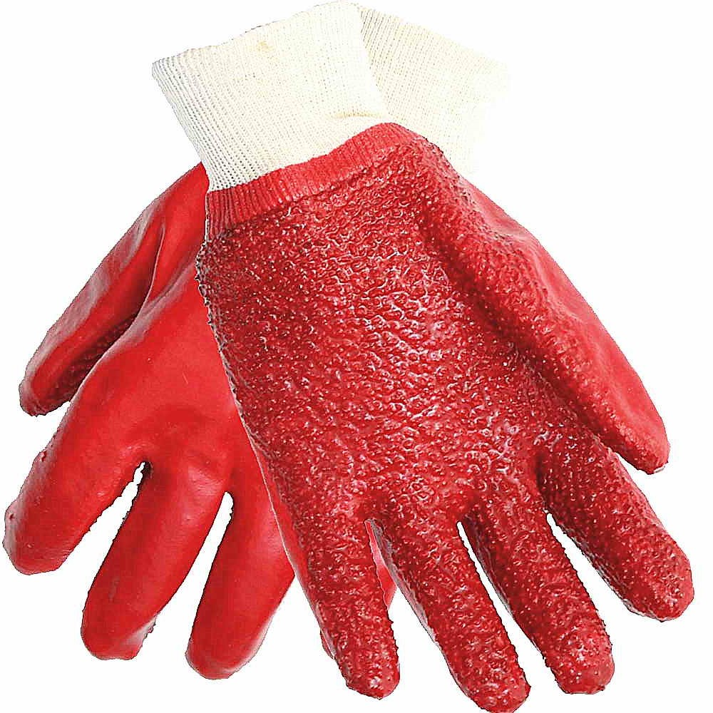 GLOVES PVC KNIT TERRY PALM